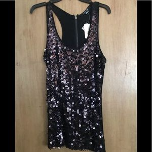Gorgeous Sequined Evening Tank Nite Out! NWT Lg